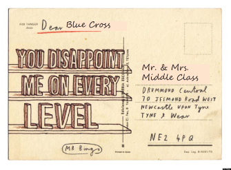 "Original ""Hate Mail"" Postcard designed by Mr. Bingo."