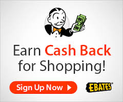 Use Ebates to earn cash when you shop online.