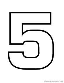 printable-number-5-outline
